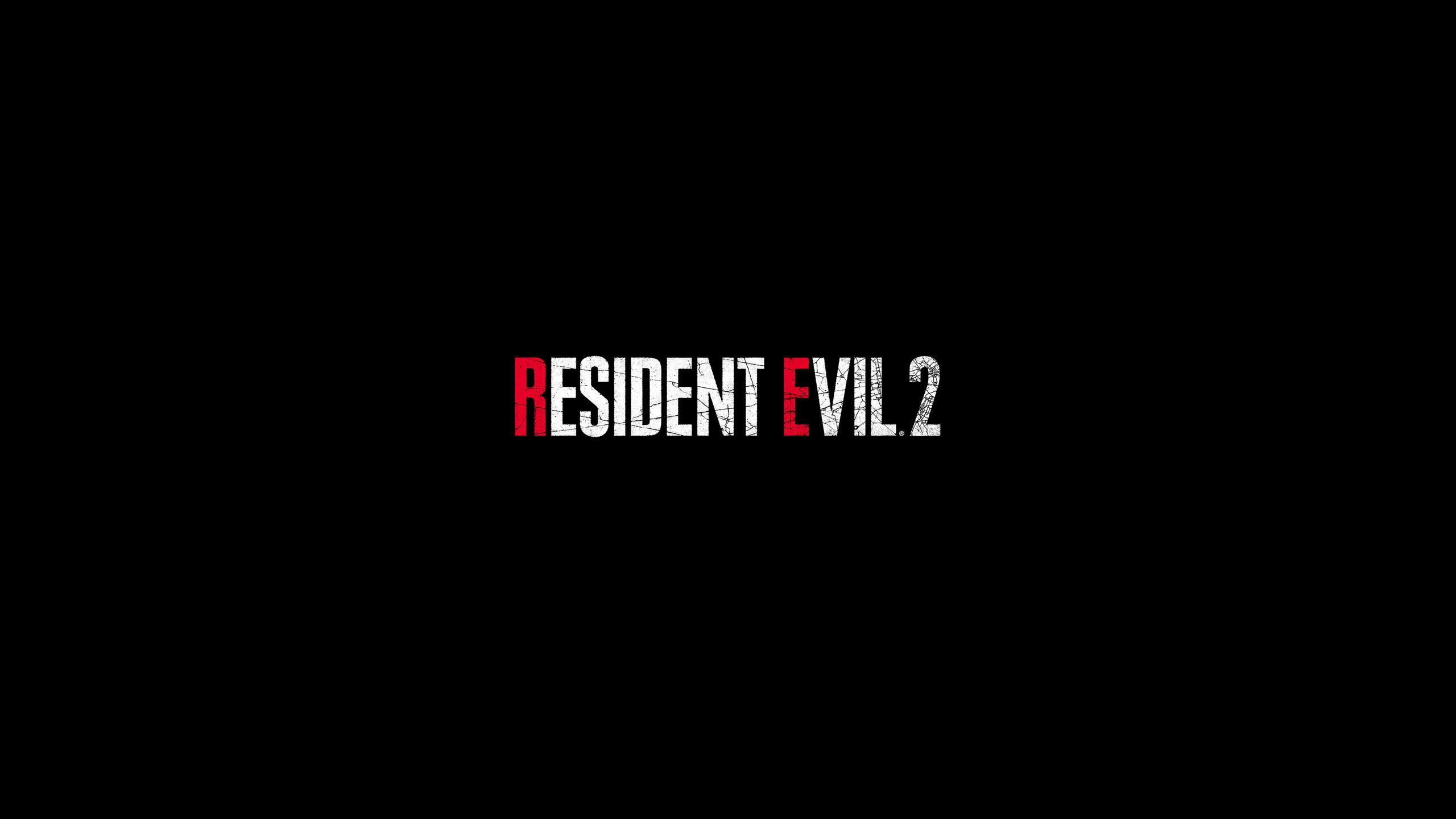 2560x1440 Resident Evil 2 Logo 4k 1440P
