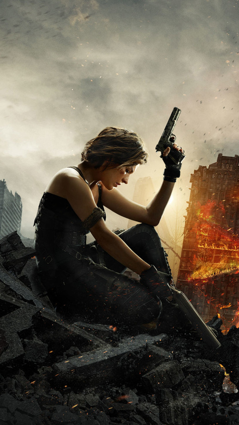 480x854 resident evil the final chapter 2016 android one hd 4k wallpapers images backgrounds - Resident evil final chapter 4k ...