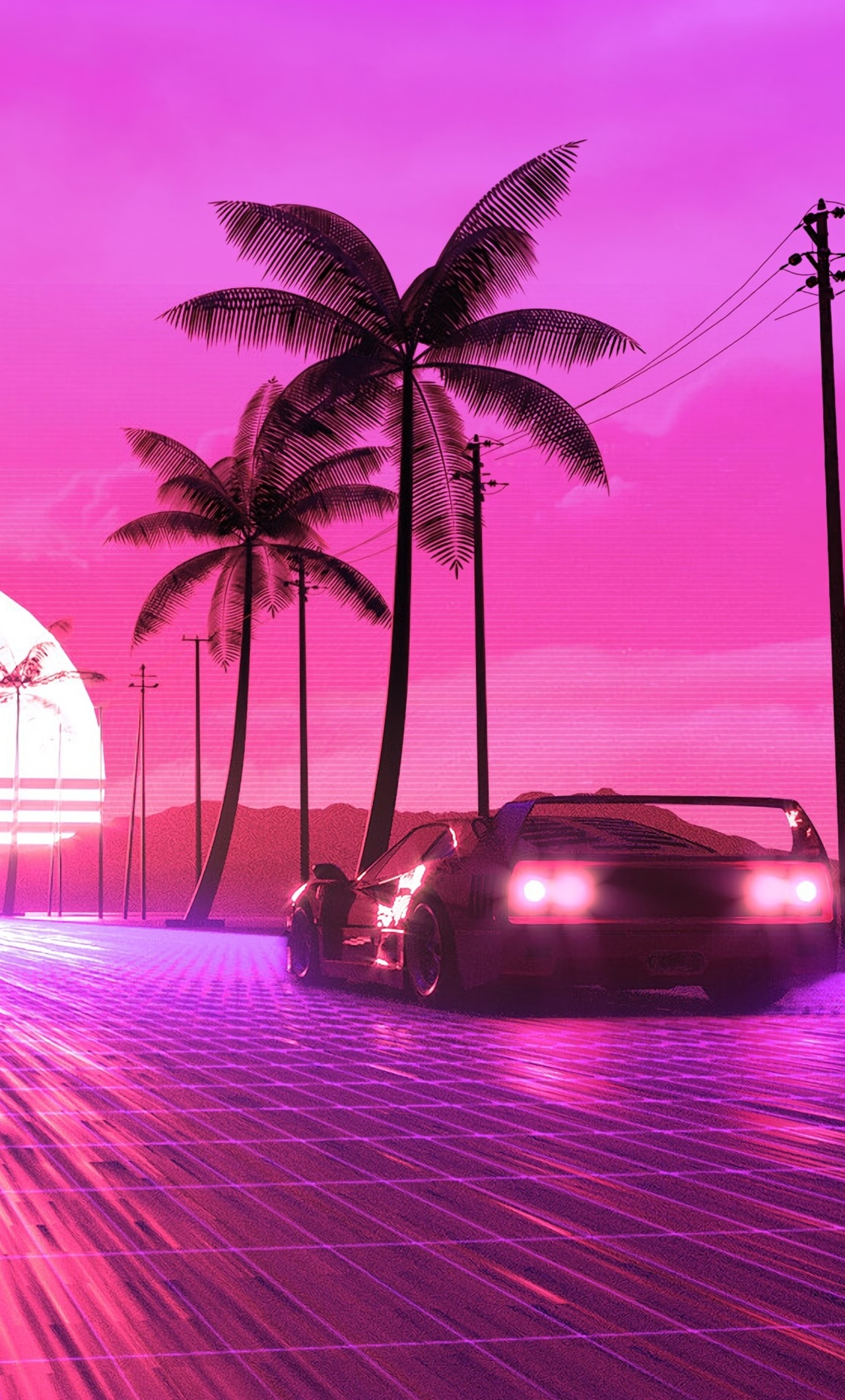 1280x2120 Retro 80s Ride Iphone 6 Hd 4k Wallpapers Images