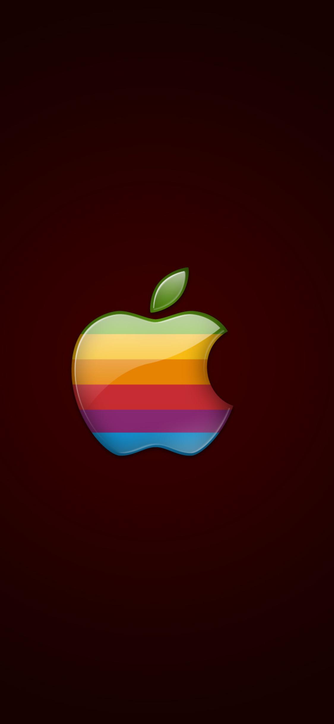 retro apple logo xk
