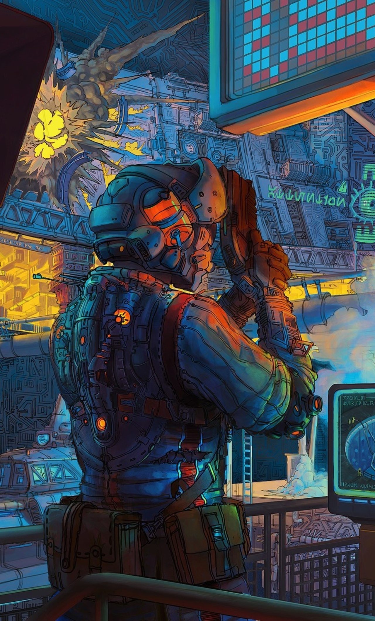 Retro Lab Scifi Artwork 20