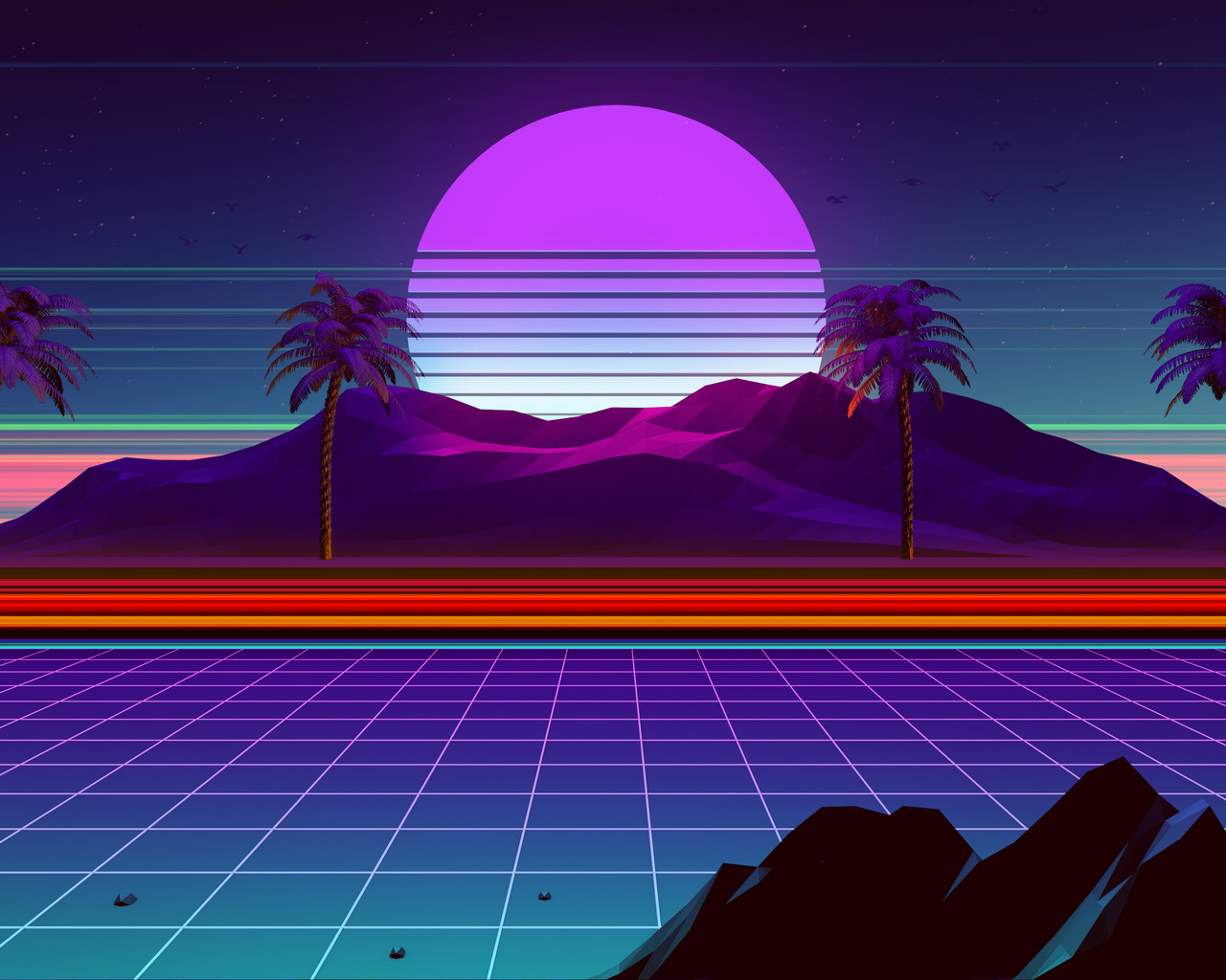 1280x1024 Retro Wave 4k 1280x1024 Resolution Hd 4k Wallpapers Images Backgrounds Photos And Pictures