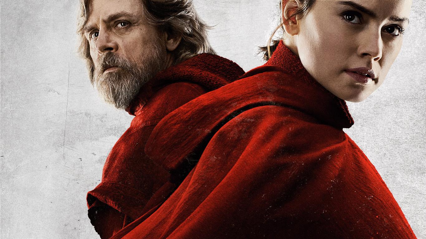 1366x768 Rey And Luke Skywalker In Star Wars The Last Jedi 2017