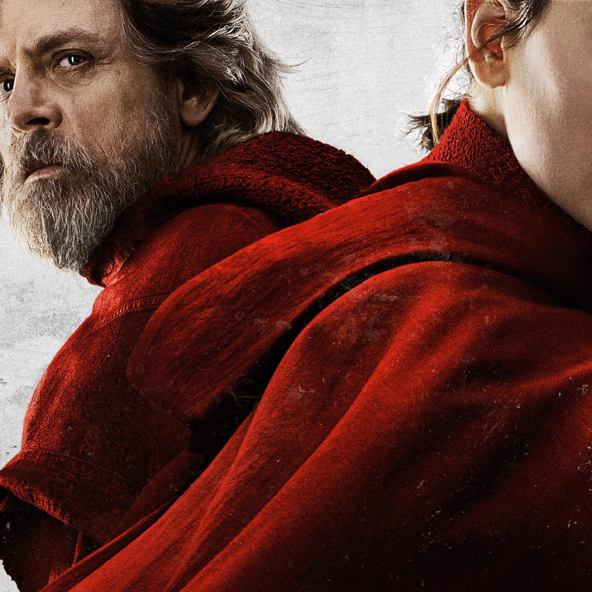 2048x2048 Rey And Luke Skywalker In Star Wars The Last Jedi 2017