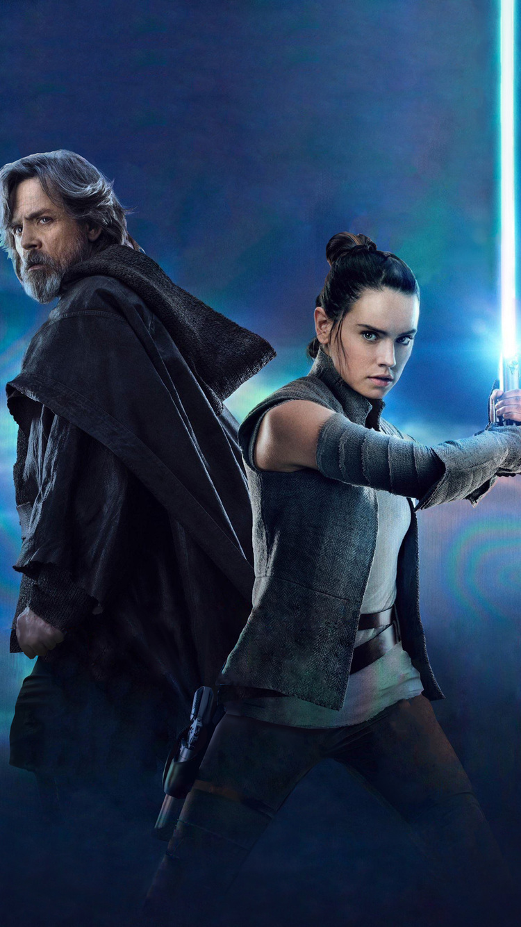 750x1334 rey and luke star wars the last jedi iphone 6, iphone 6s