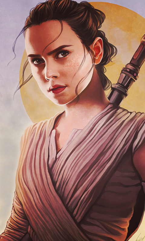 480x800 Rey Star Wars Fanart Galaxy Note Htc Desire Nokia Lumia 520 625 Android Hd 4k Wallpapers Images Backgrounds Photos And Pictures