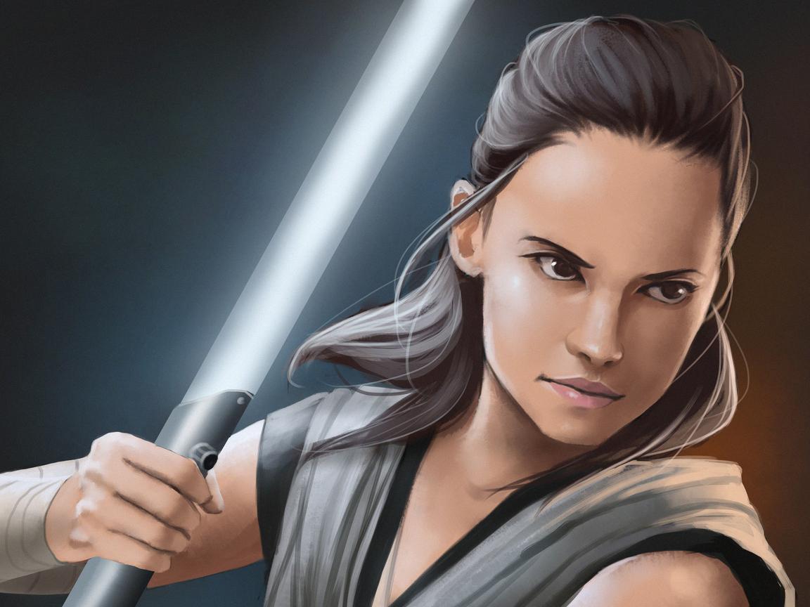 1152x864 Rey Star Wars The Last Jedi Art Hd 1152x864 Resolution Hd