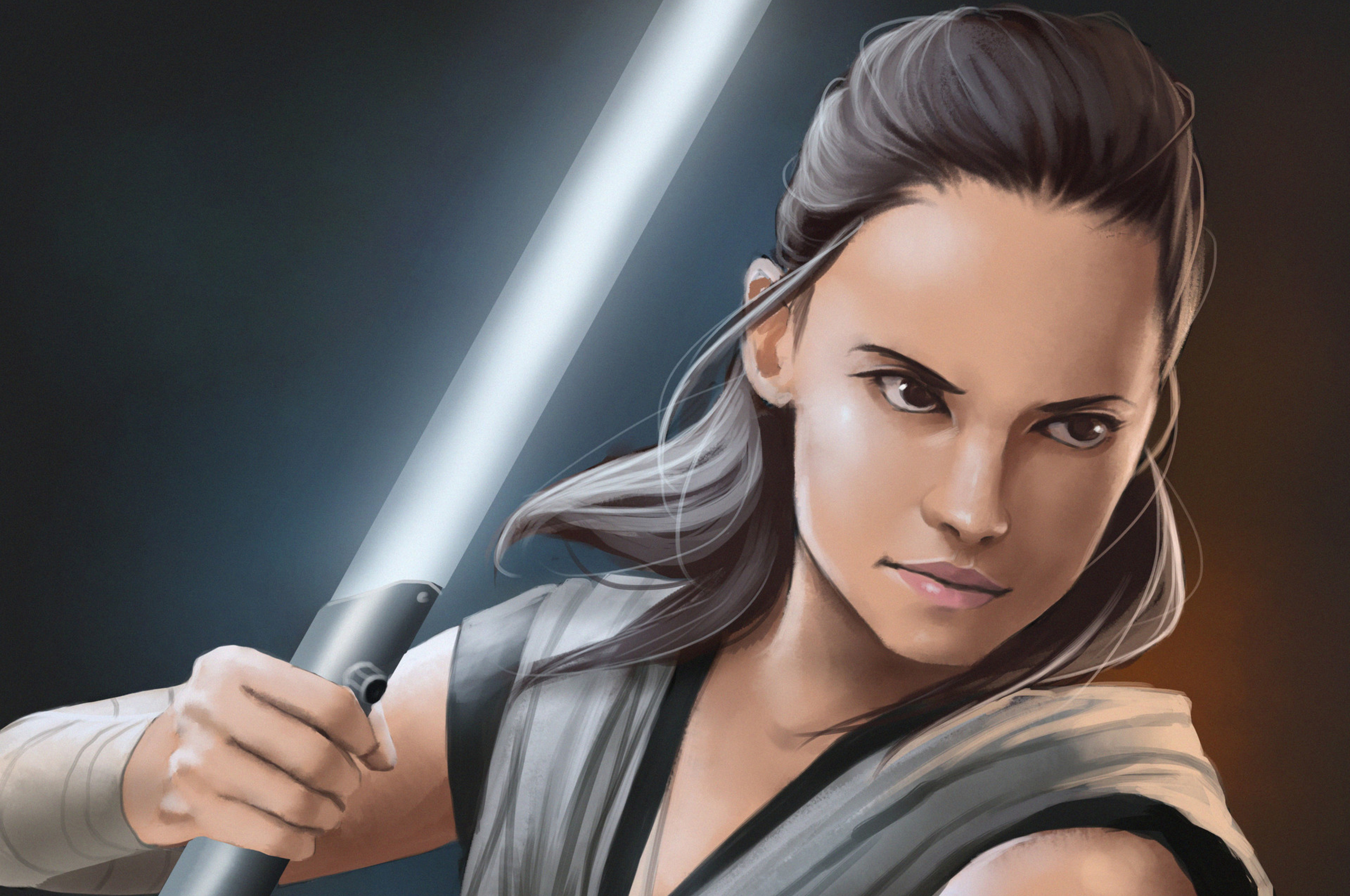 2560x1700 Rey Star Wars The Last Jedi Art Hd Chromebook Pixel Hd