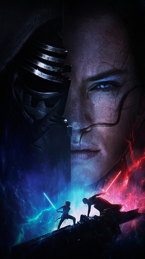 480x854 Rey Vs Kylo Ren Star Wars The Rise Of Skywalker 2019 Android One Hd 4k Wallpapers Images Backgrounds Photos And Pictures