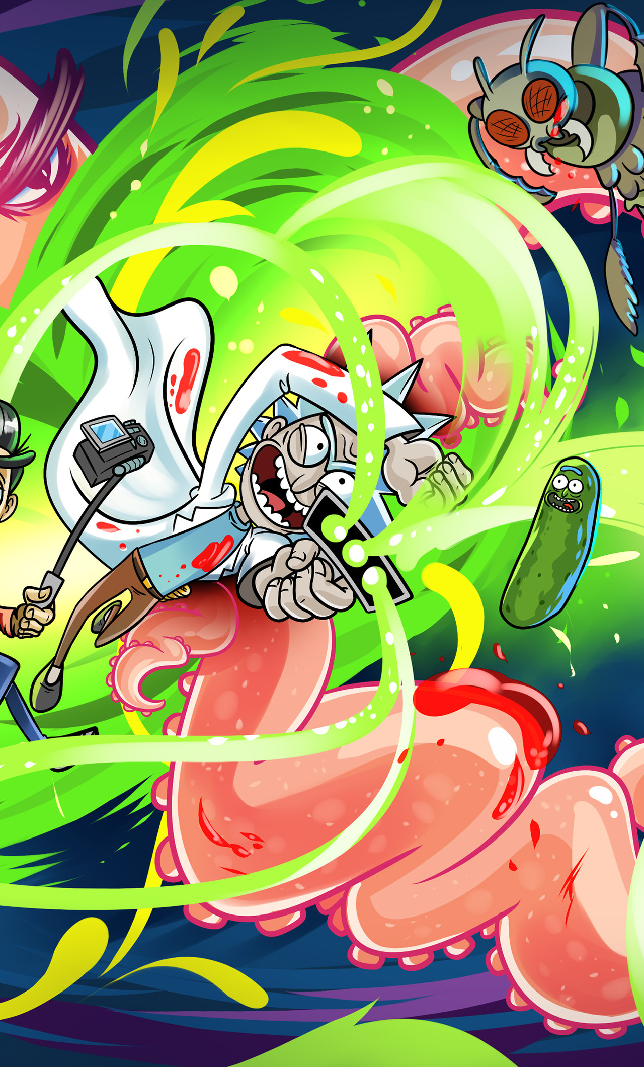 1280x2120 Rick And Morty Artwork 4k iPhone 6+ HD 4k ...