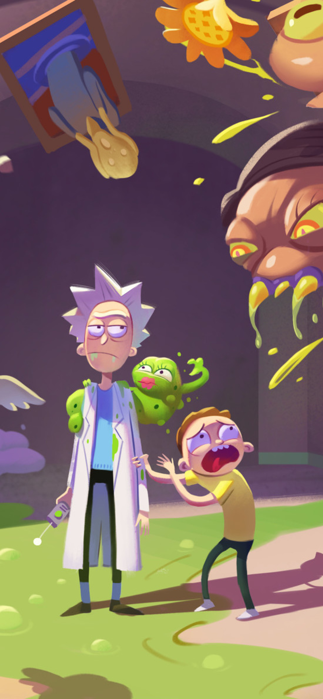 1125x2436 Rick And Morty Hd Art Iphone Xs Iphone 10 Iphone X