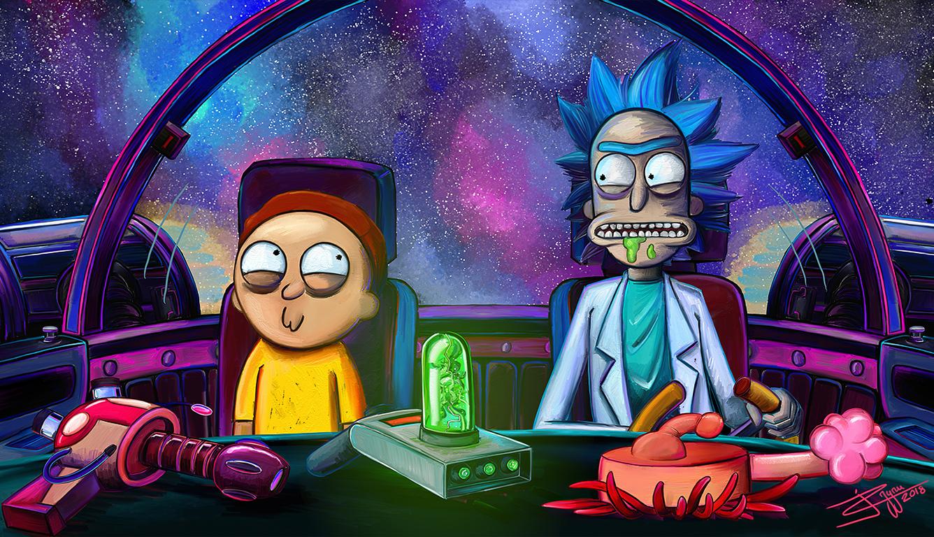 1336x768 Rick And Morty Netflix 2020 Laptop HD HD 4k ...