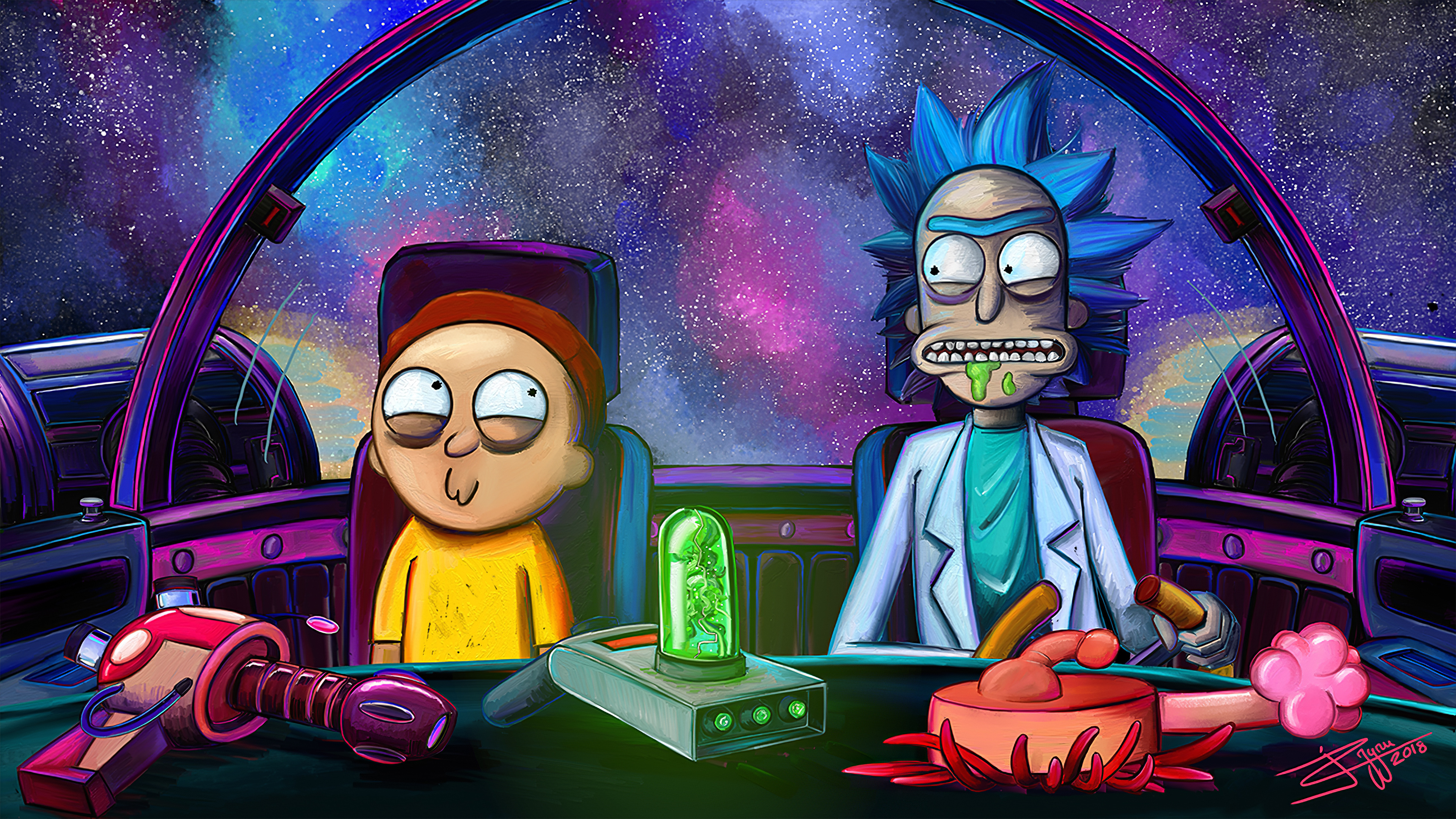 3840x2160 Rick And Morty Netflix 2020 4k HD 4k Wallpapers ...