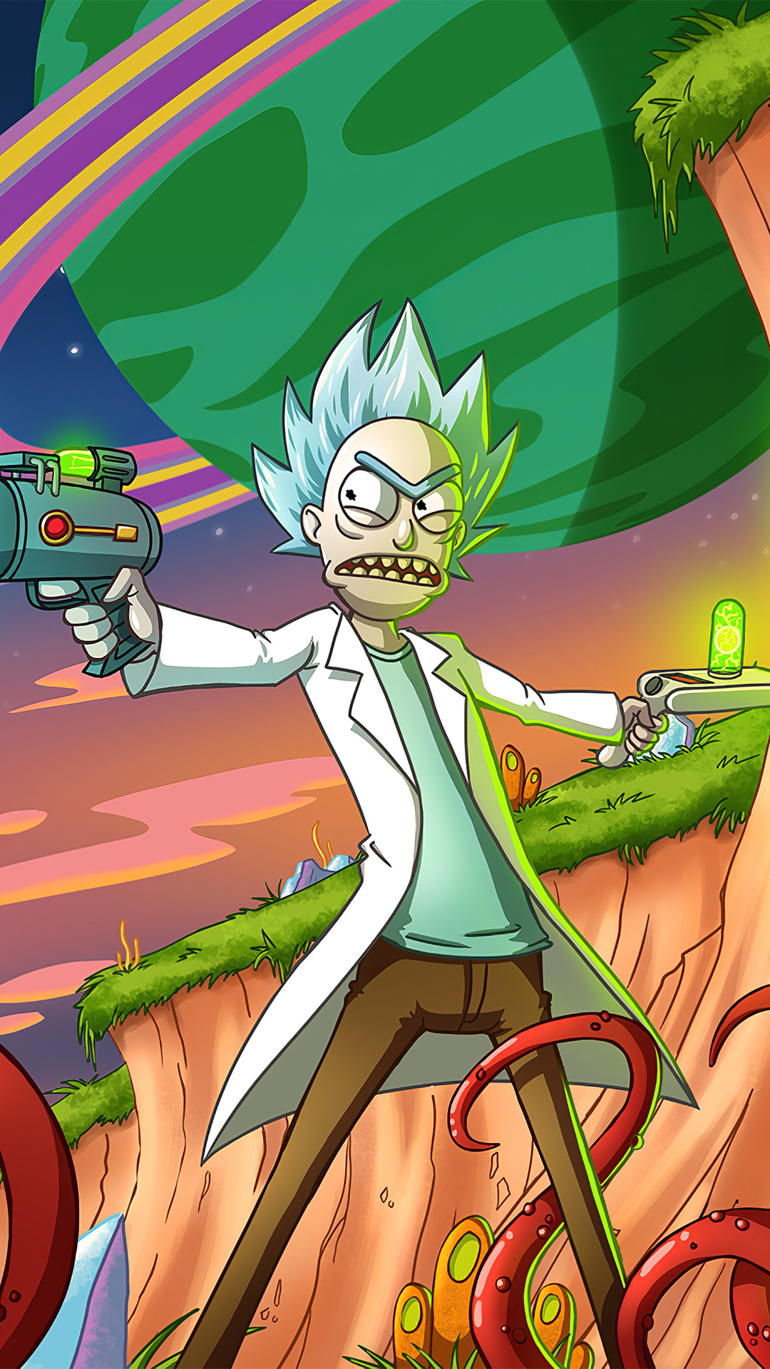 Angelanne: Iphone 7 Rick And Morty Wallpaper 4k