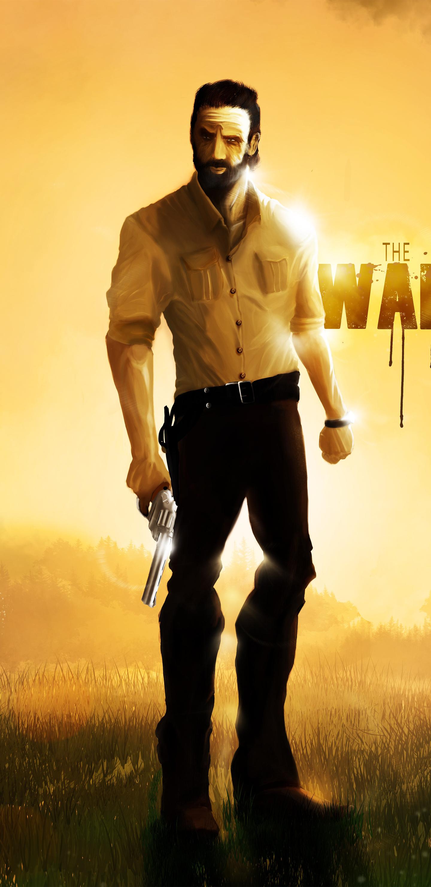 1440x2960 Rick Grimes The Walking Dead 5k Artwork Samsung Galaxy
