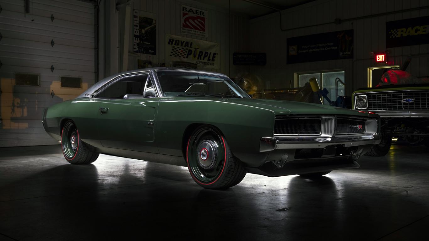 1366x768 ringbrothers dodge charger defector 1969 1366x768 - Dodge car 4k wallpaper ...