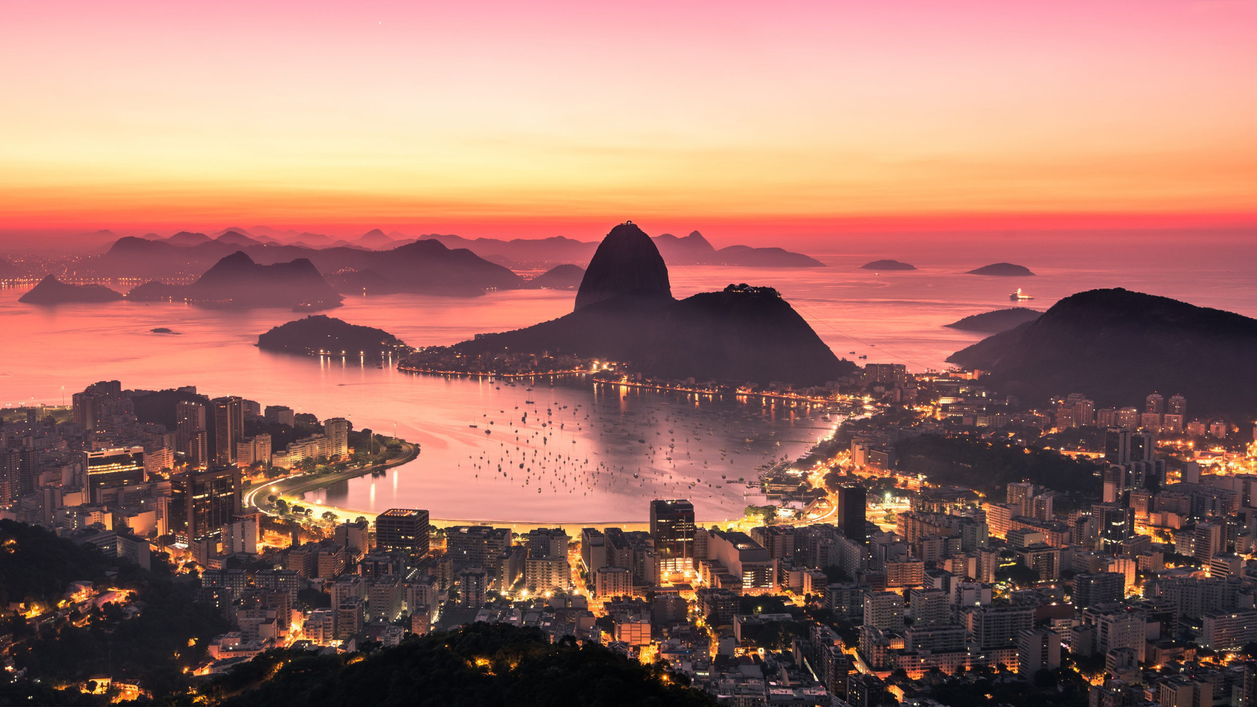2560x1440 Rio De Janeiro Sunrise 4k 1440p Resolution Hd 4k