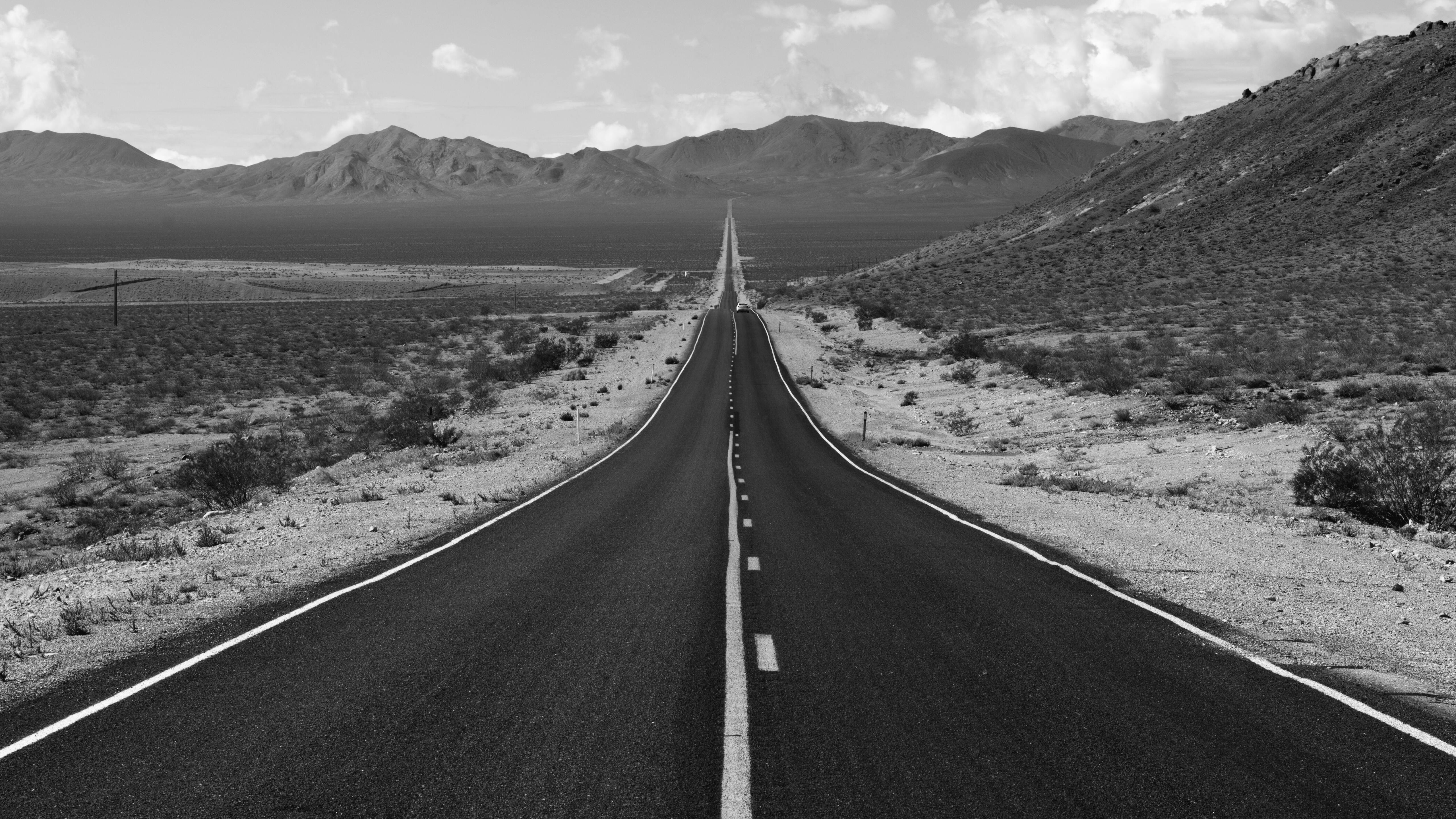 5120x2880 Road Grayscale Photography 5k Hd 4k Wallpapers Images Backgrounds Photos And Pictures