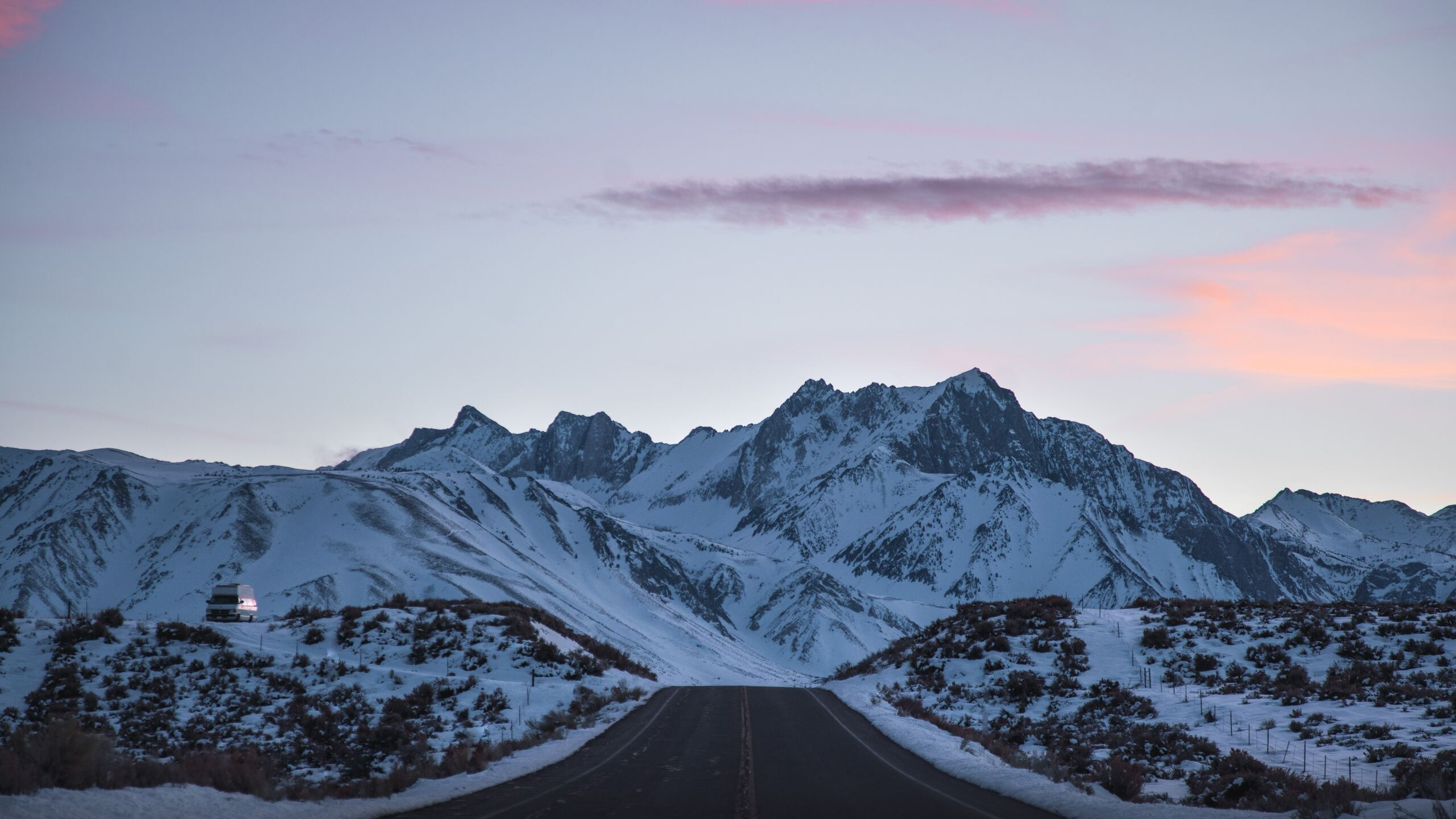 2560x1440 Road Outdoors Snowy Peak 8k 1440p Resolution Hd 4k Wallpapers Images Backgrounds Photos And Pictures