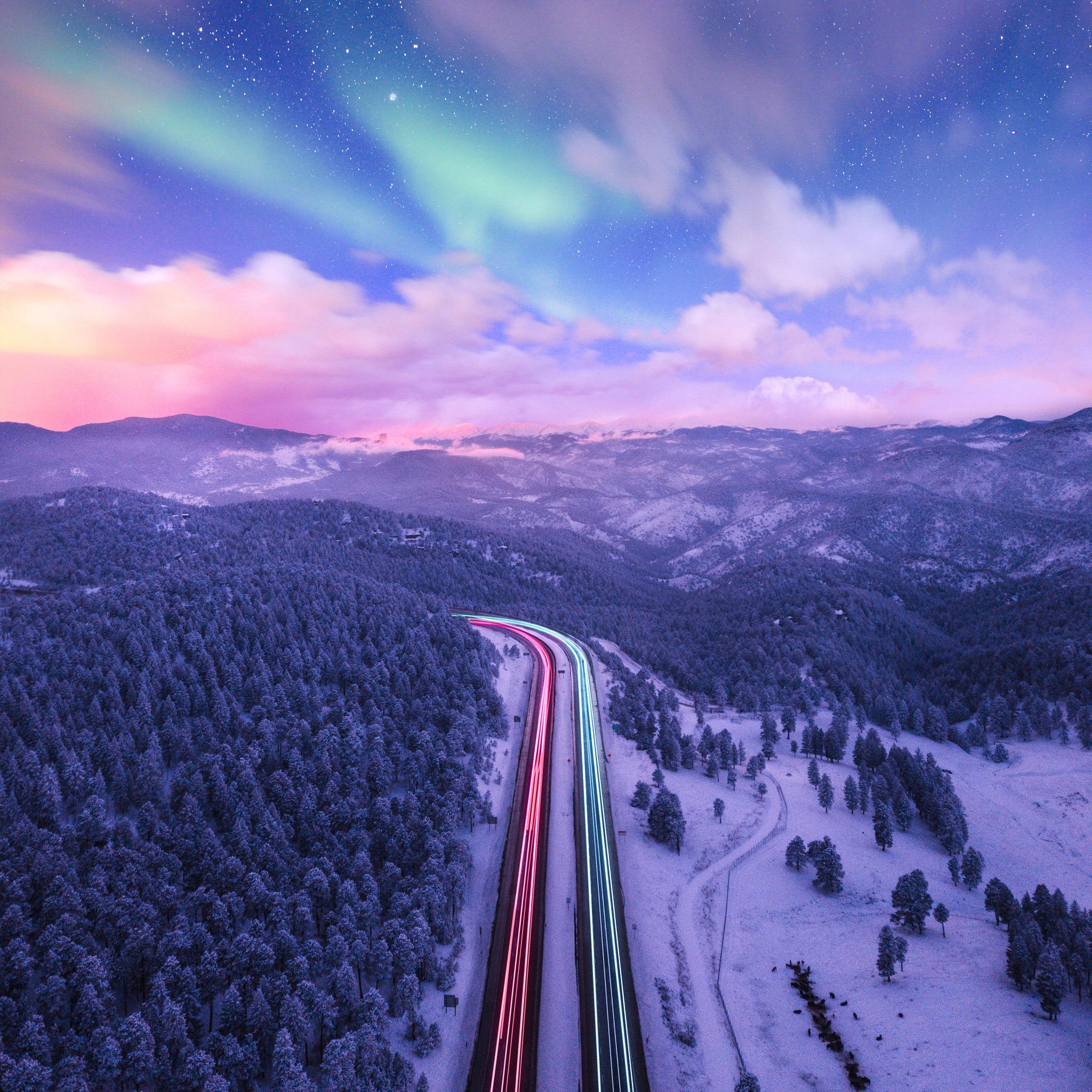 2048x2048 Road Trails Long Exposure Colorful 4k Ipad Air Hd 4k