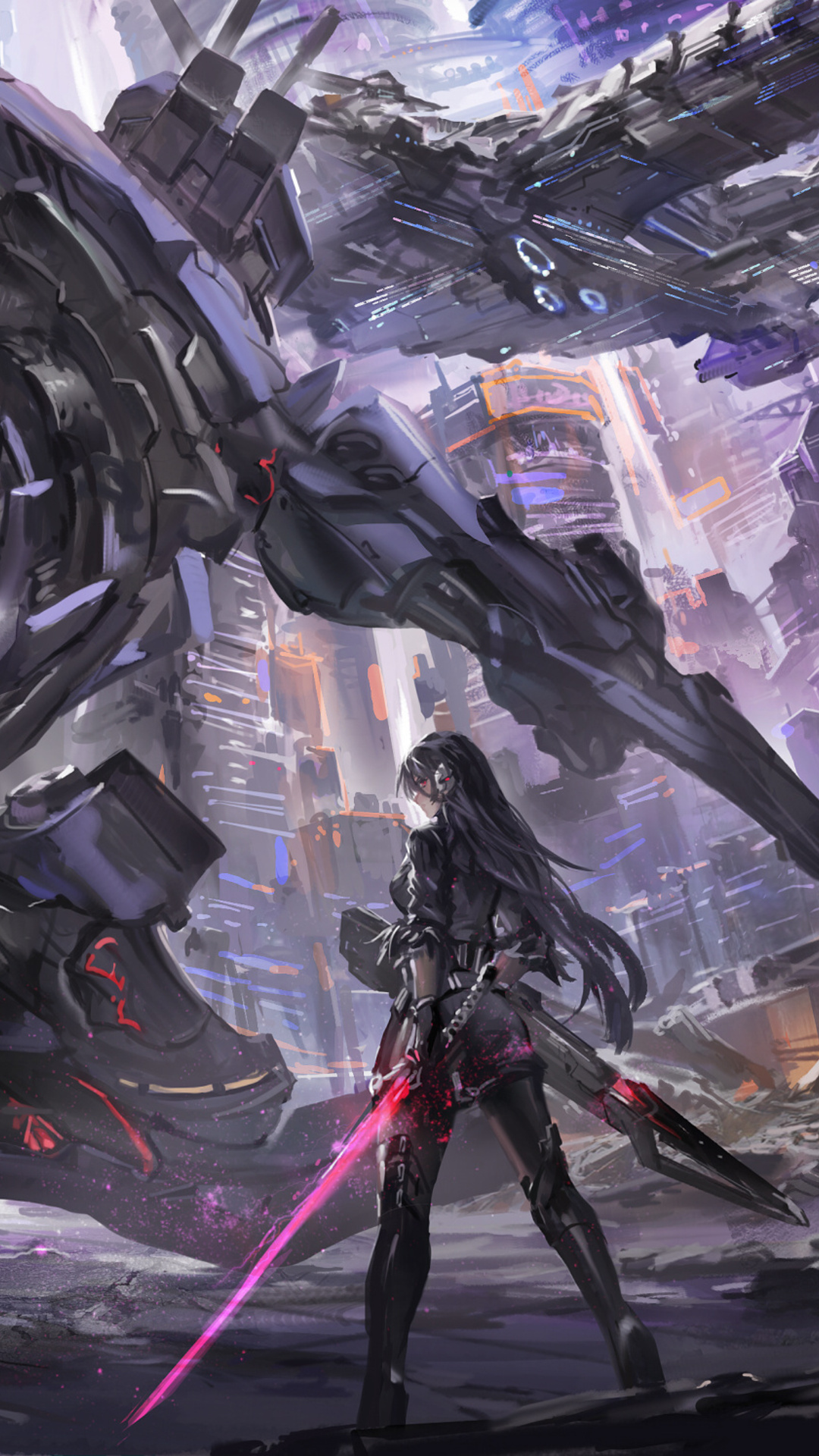 1080x1920 robot scifi anime war iphone 7 6s 6 plus pixel - Anime wallpaper hd iphone 7 ...