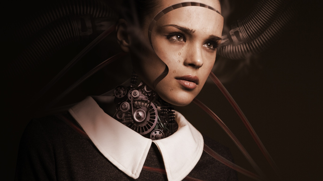 1366x768 Robot Woman Artificial Intelligence Technology Robotics