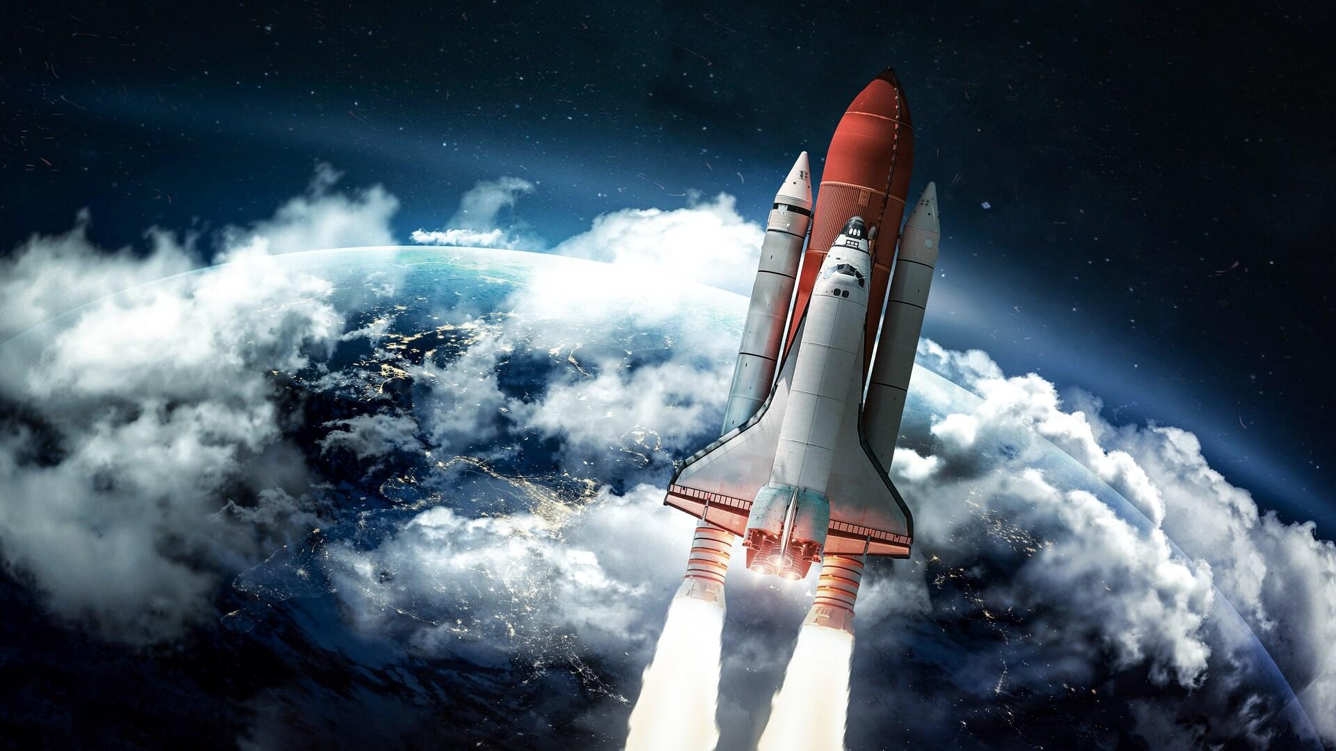 1920x1080 Rocket Heading Towards Space Laptop Full Hd 1080p