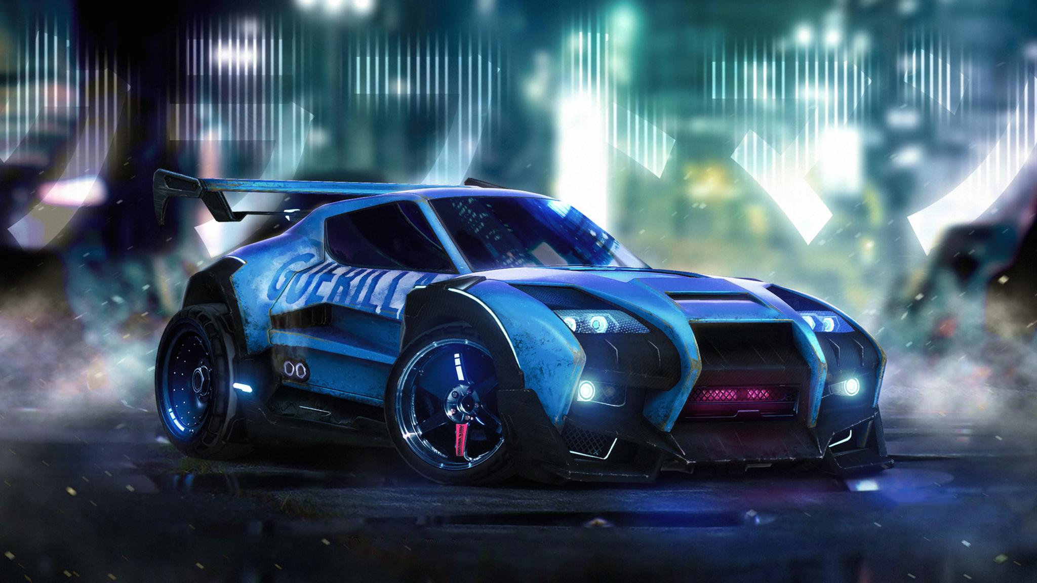 2048x1152 Rocket League Car Artwork 2048x1152 Resolution