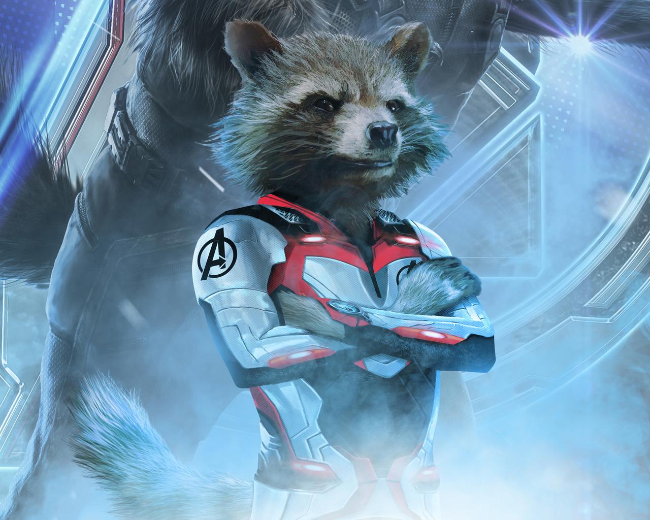 1280x1024 rocket raccoon in avengers endgame 2019 - Rocket raccoon phone wallpaper ...