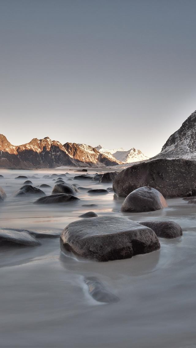 640x1136 Rocks Seaside Long Exposure 5k Iphone 5 5c 5s Se