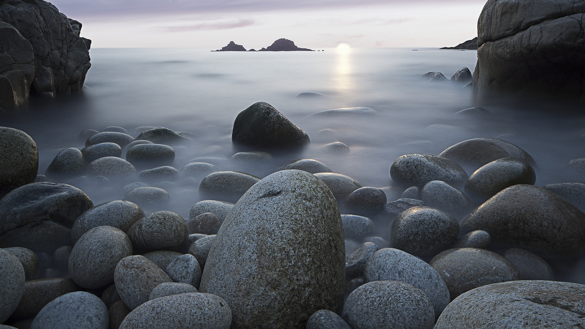 1920x1080 Rocks Stones Sea Sky Nature Laptop Full HD 1080P ...