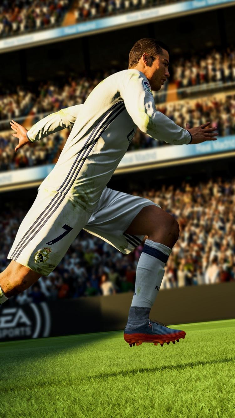 750x1334 Ronaldo Fifa 18 5k Iphone 6 Iphone 6s Iphone 7 Hd