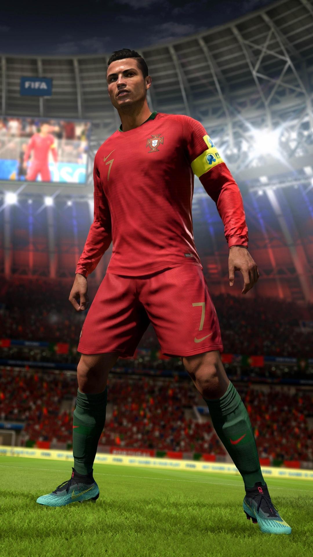 1080x1920 Ronaldo Fifa 18 8k Iphone 76s6 Plus Pixel Xl