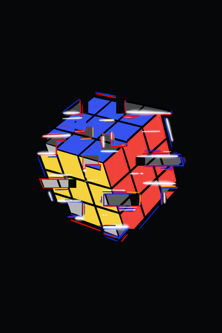 320x480 Rubik Cube Abstract 4k Apple Iphone,iPod Touch ...