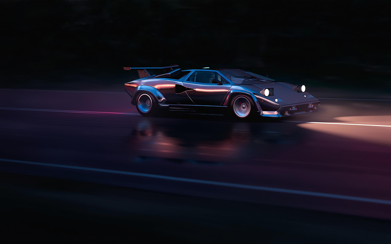 2880x1800 Running In 80s Lamborghini Countach 4k Macbook Pro