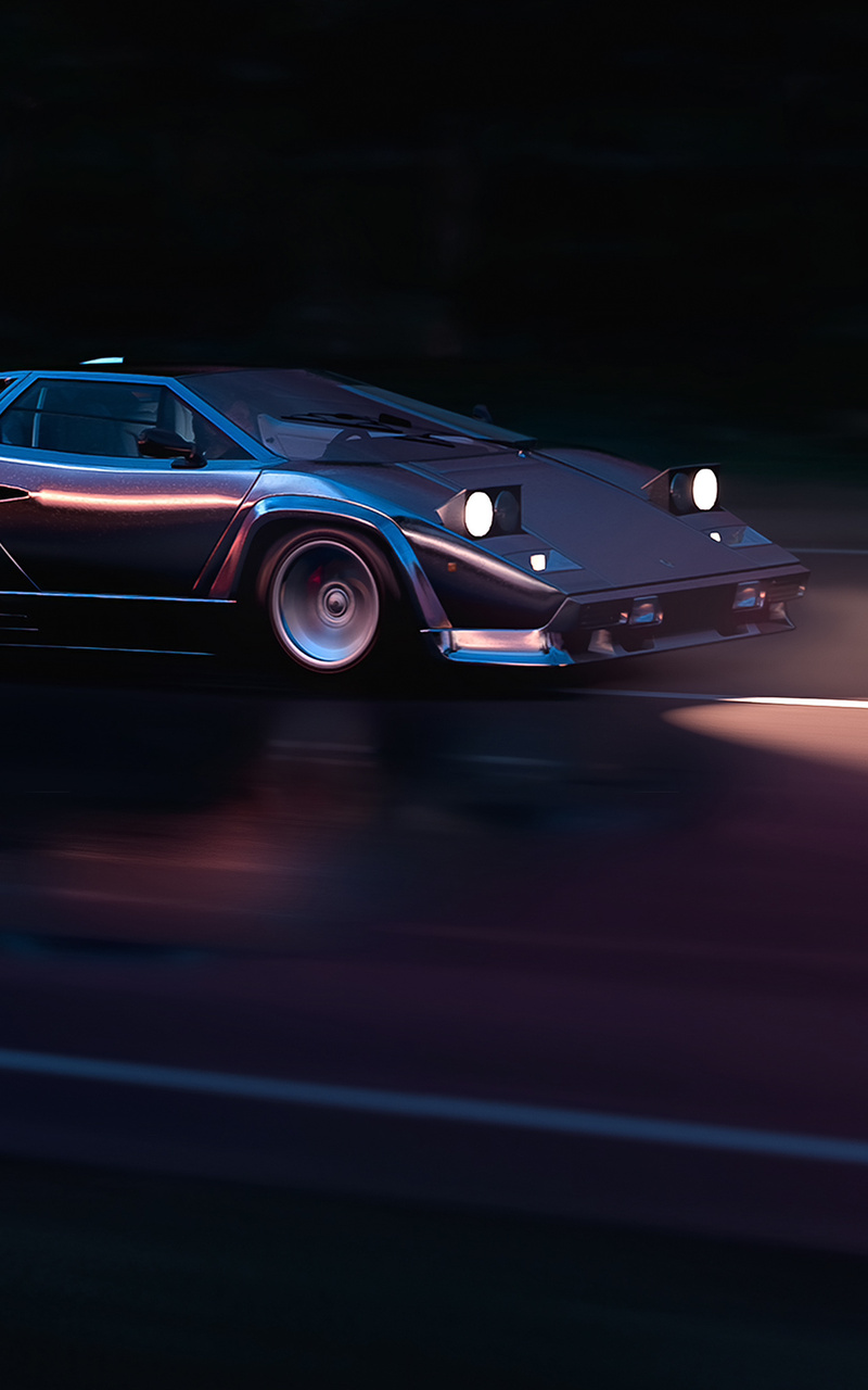 800x1280 Running In 80s Lamborghini Countach 4k Nexus 7