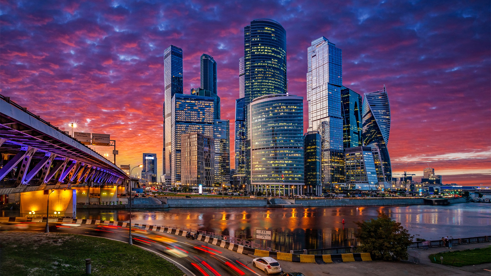 1600x900 Russia Moscow Cityscape 4k