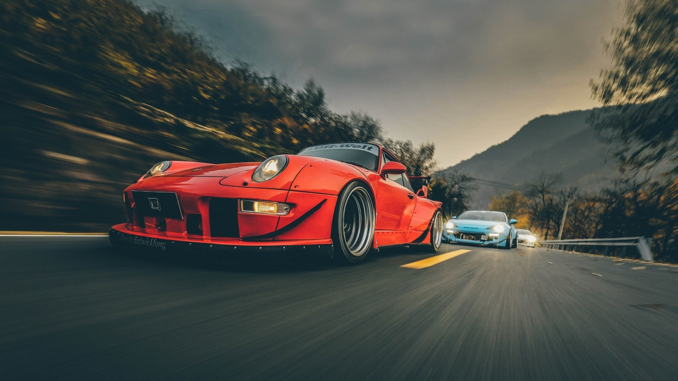 Rwb 4k Wallpaper: 1366x768 RWB Porsche 911 Turbo 1366x768 Resolution HD 4k