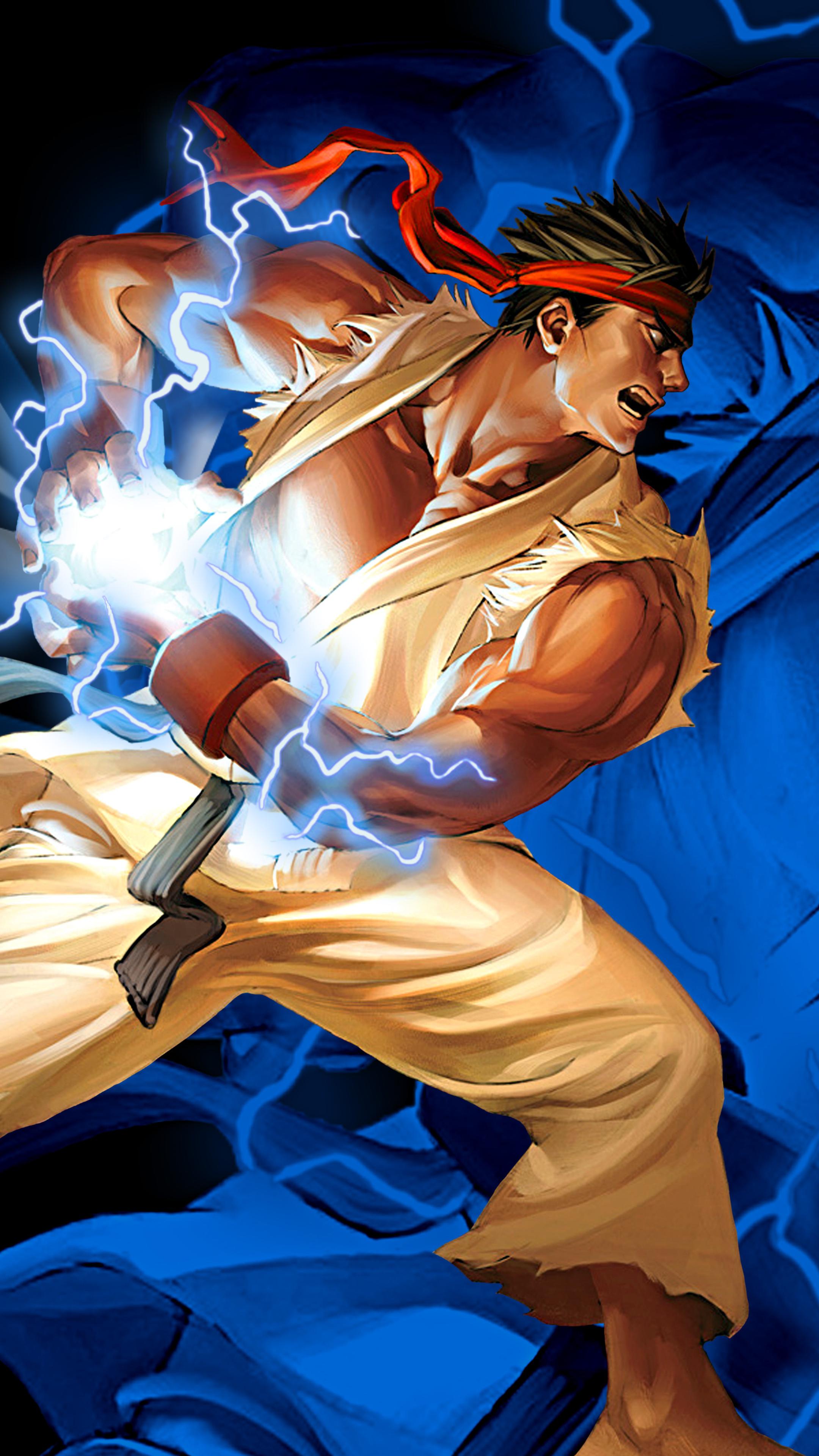 2160x3840 Ryu Hadouken Street Fighter 2 Sony Xperia X Xz Z5