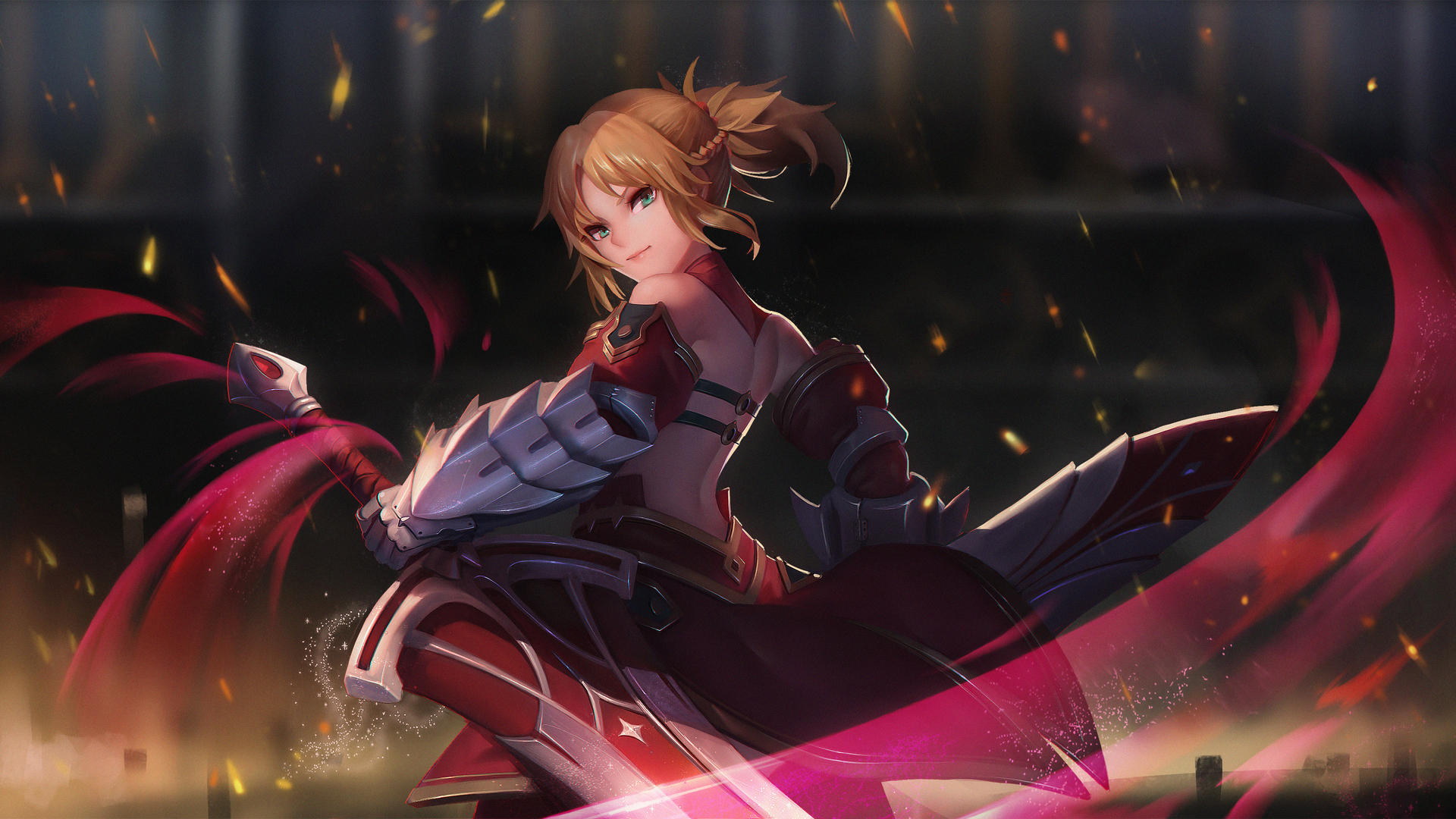 1920x1080 Saber Of Red Fate Grand Order Laptop Full Hd 1080p Hd 4k
