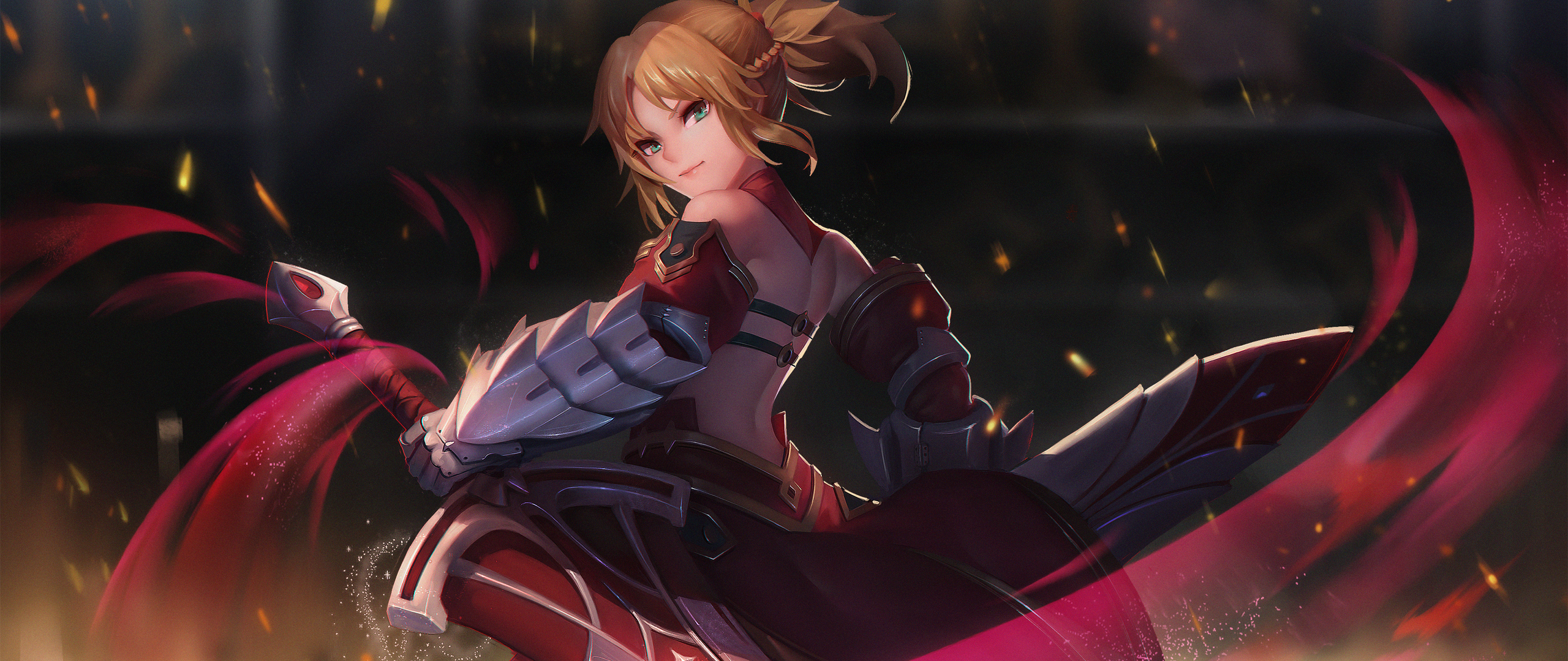 2560x1080 Saber Of Red Fate Grand Order 2560x1080 Resolution Hd 4k