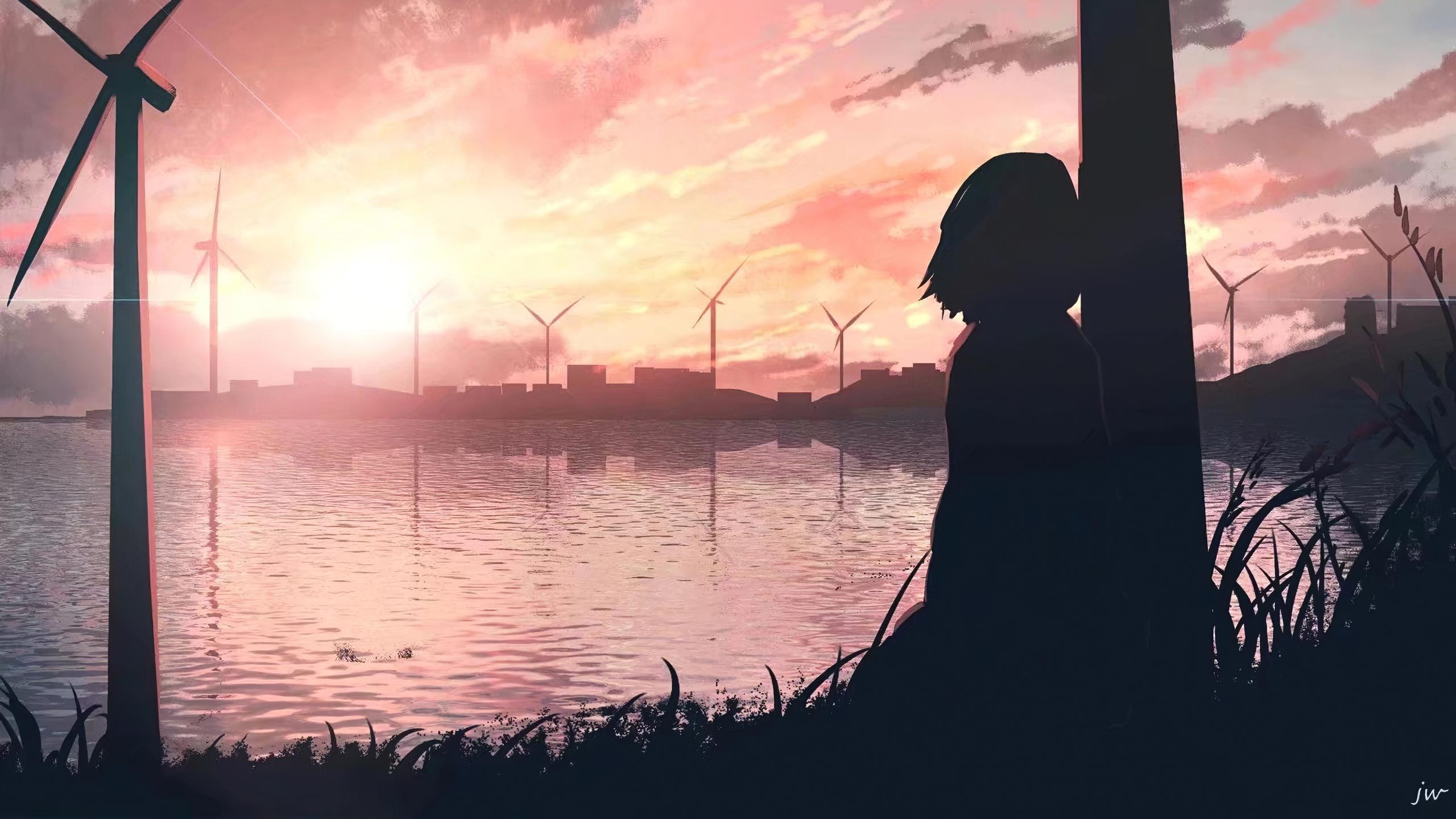 2560x1440 Sad Anime Girl 4k 1440P Resolution HD 4k ...