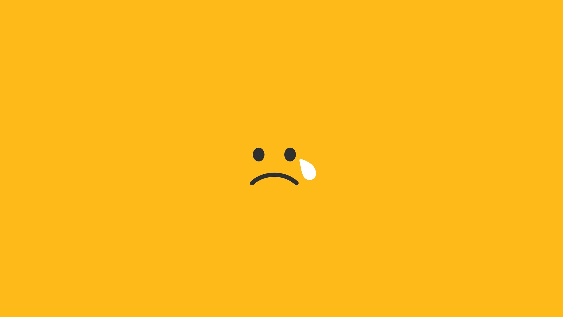 1920x1080 sad tears smiley minimalism 4k laptop full hd 1080p hd 4k