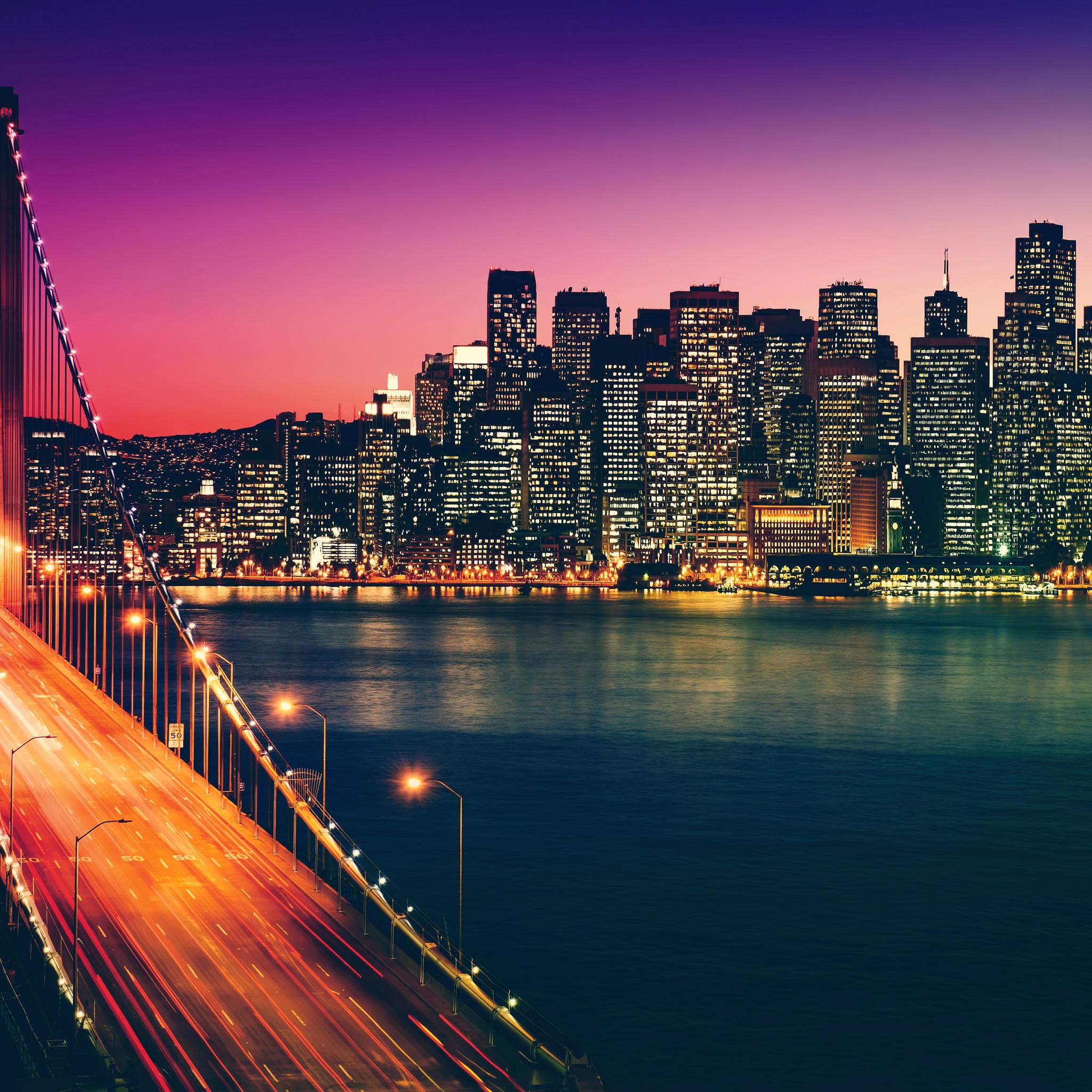 2048x2048 San Francisco California Cityscape 4k Ipad Air