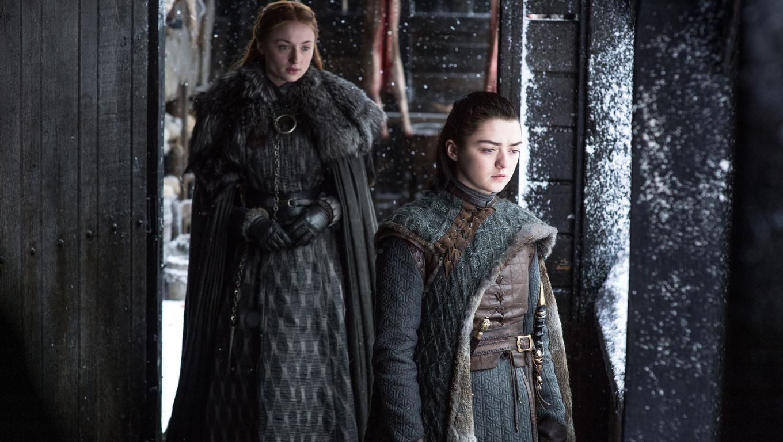 1360x768 Sansa And Arya Stark Game Of Thrones Season 7