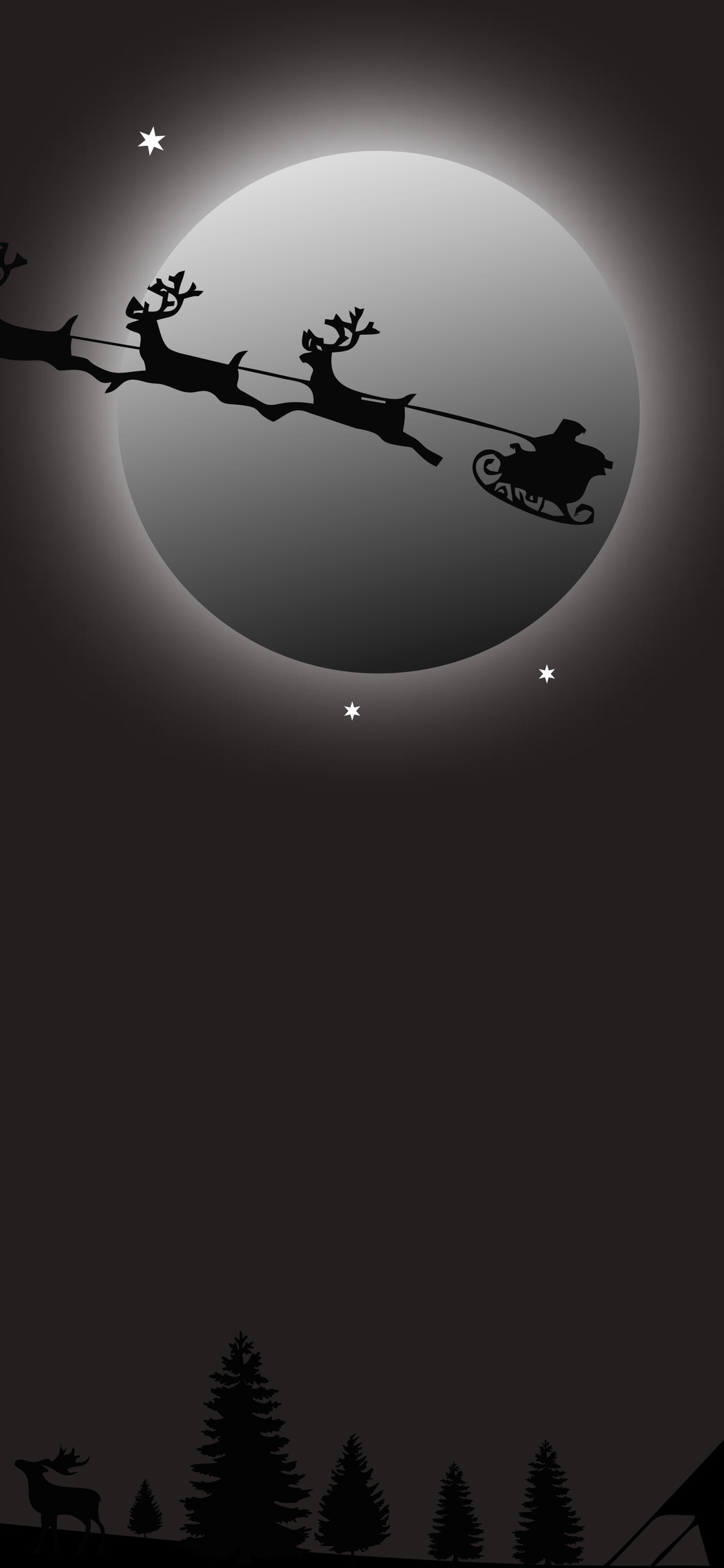 1125x2436 Santa Claus Deer Ride Iphone Xs Iphone 10 Iphone X