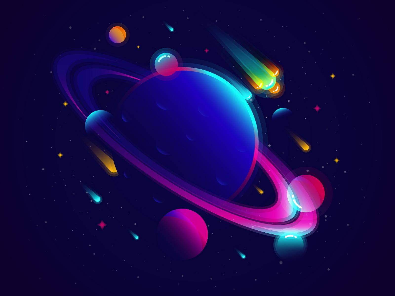 1600x1200 Saturn Planet Illustration Minimalist 1600x1200