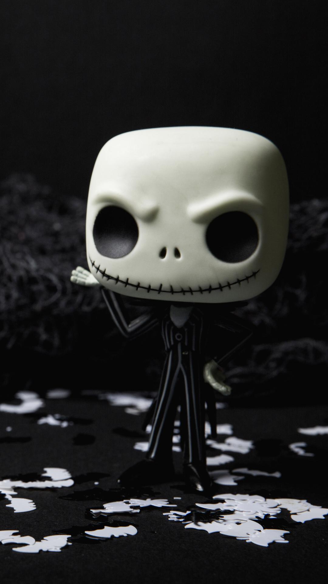 1080x1920 scary skull doll halloween creepy 5k iphone 7 6s - Scary skull backgrounds ...
