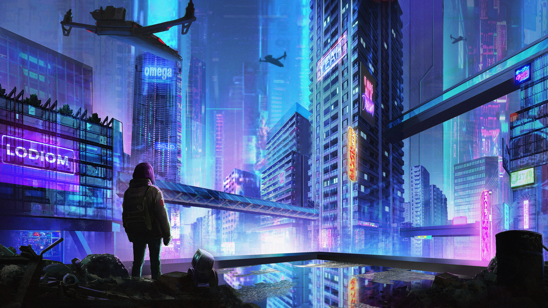 1920x1080 Scavenger Cityscape Cyberpunk 5k Laptop Full Hd 1080p Hd 4k Wallpapers Images Backgrounds Photos And Pictures Kiberpank oboi, kartinki, foto 1920x1080 ??? 1920x1080 scavenger cityscape cyberpunk