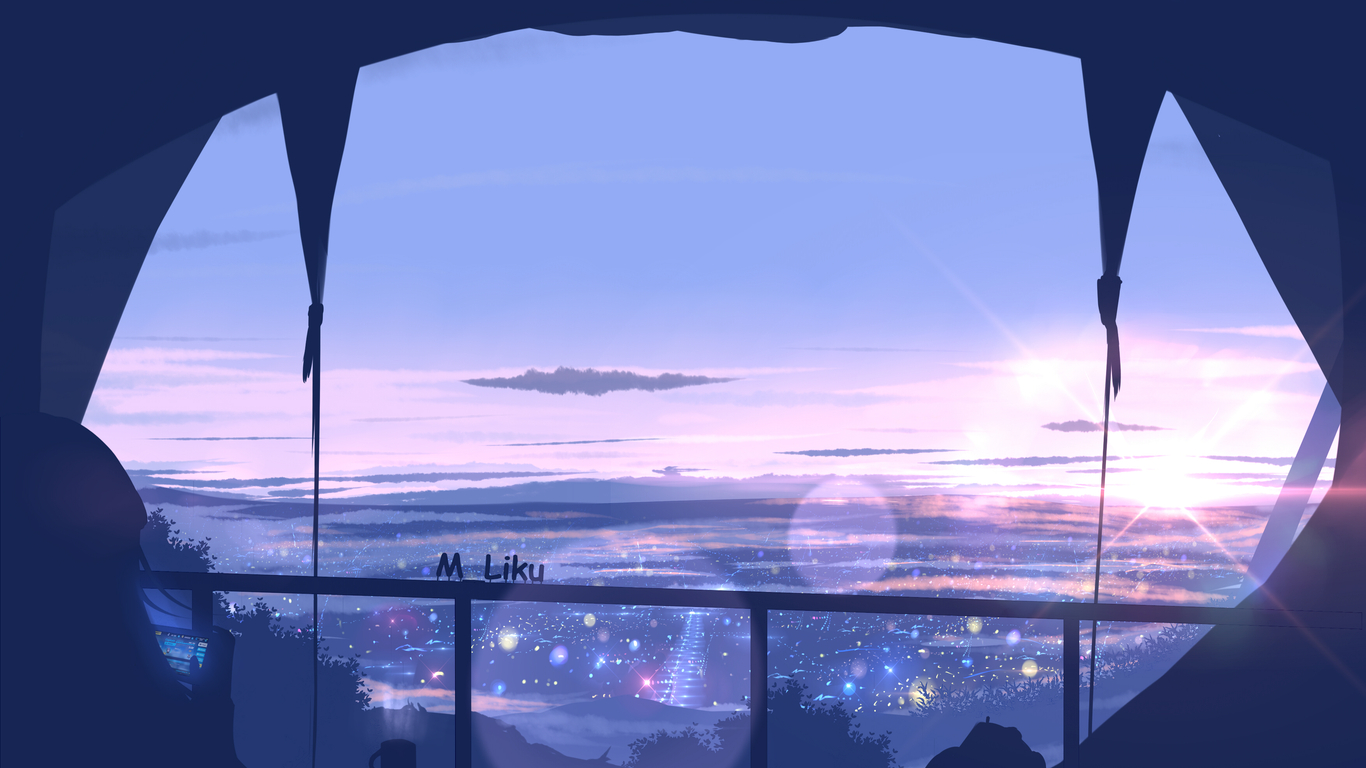 Anime Wallpaper Hd Anime Scenery Wallpaper 1366x768